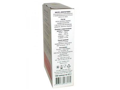 Масло Амарантовое 180 капсул по 0.3 г «Компас здоровья»