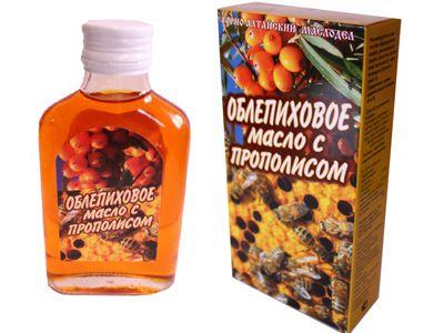 Масло ОБЛЕПИХОВОЕ (с прополисом) «Горно-Алтайский маслодел»
