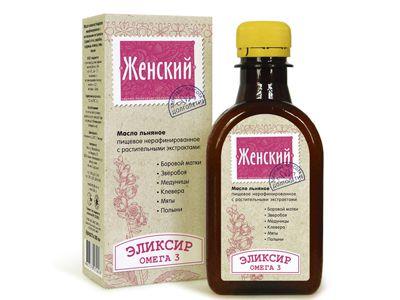 Масло льняное с растительными экстрактами «Эликсир женский» 200 мл (Компас здоровья)