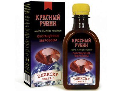 Масло льняное Красный рубин «Компас здоровья» 200 мл
