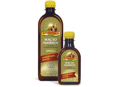 Масло льняное Славянка Арина 500 мл «Компас здоровья»