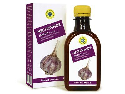 Масло льняное с растительными экстрактами «ЧЕСНОЧНОЕ» 200 мл (Компас здоровья)