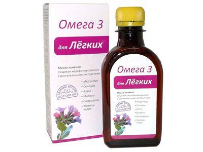 Масло льняное с растительными экстрактами «Для Легких» 200 мл (Компас здоровья)