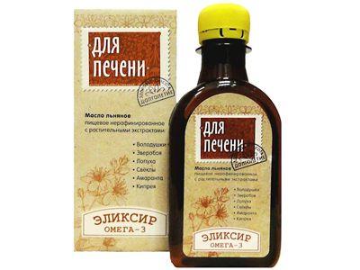 Масло льняное с растительными экстрактами «Для печени» 200 мл (Компас здоровья)