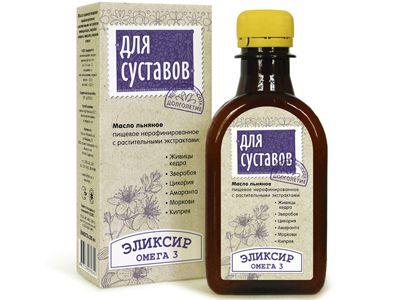 Масло льняное с растительными экстрактами «Для суставов» 200 мл (Компас здоровья)
