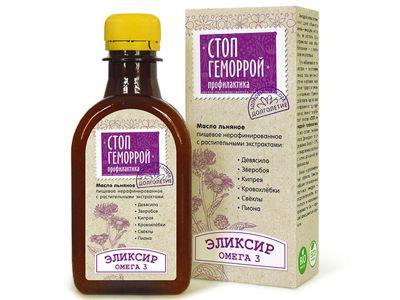Масло льняное с растительными экстрактами «Стоп геморрой» 200 мл (Компас здоровья)