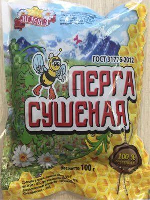 Перга сушеная 100 гр Пчелопродукты «МЕДОВЕЯ»
