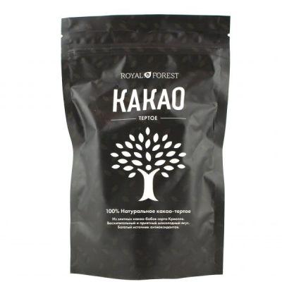 Какао тертое натуральное 200 гр «Royal Forest»