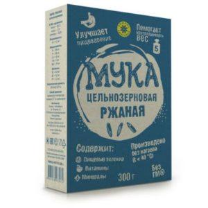 Мука цельнозерновая ржаная «Компас здоровья» 300 гр