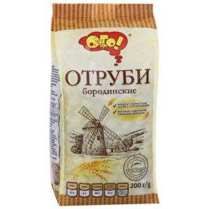 Отруби БОРОДИНСКИЕ (гранулированные) «ОГО» 200 гр