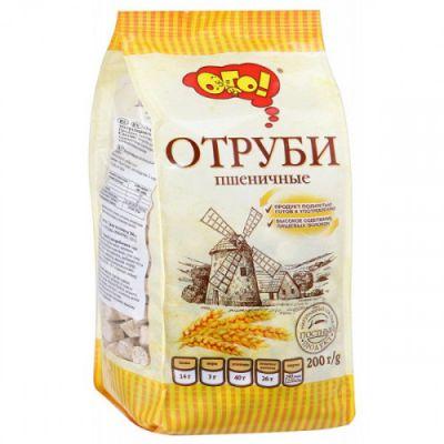 Отруби ПШЕНИЧНЫЕ (гранулированные) «ОГО» 200 гр