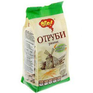 Отруби РЖАНЫЕ (гранулированные) «ОГО» 200 гр