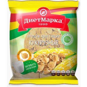 Кукурузные отруби хрустящие «ДиетМарка» 100 гр