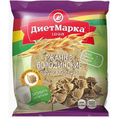 Ржаные - Бородинские отруби хрустящие «ДиетМарка» 100 гр