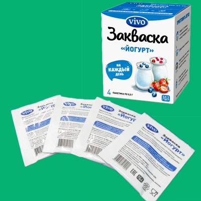 Закваска Йогурт (4 пакетика по 0.5 гр) «VIVO»