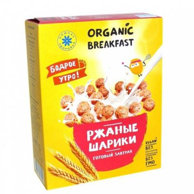 Завтраки сухие (Ржаные шарики) «Компас здоровья» 100 гр