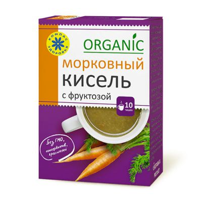 Кисель с фруктозой Морковный 150 гр «Компас здоровья»