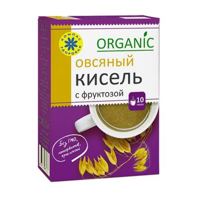 Кисель с фруктозой Овсяный 150 гр «Компас здоровья»