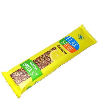 Флакс-Батон ЛИМОН (лён, мед и лимон) 30 г «Компас здоровья»