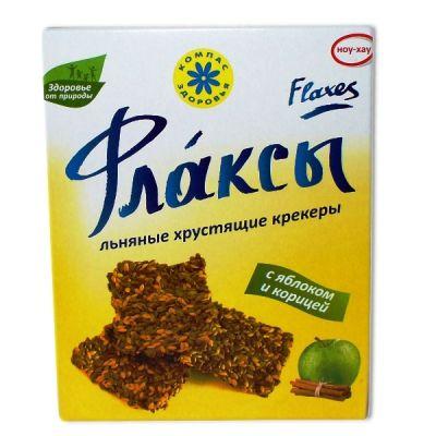 Флаксы с Яблоком и Корицей 150 г «Компас здоровья»