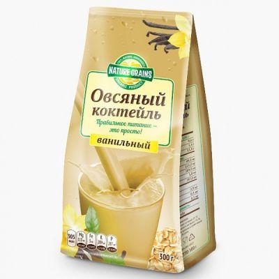 Коктейль овсяный с ВАНИЛЬЮ 300 г «Компас здоровья»