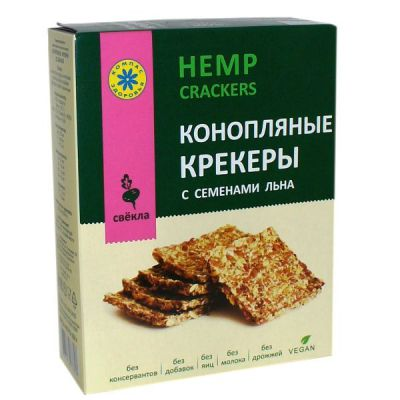 Крекер Конопляный со Свеклой 150 г «Компас здоровья»