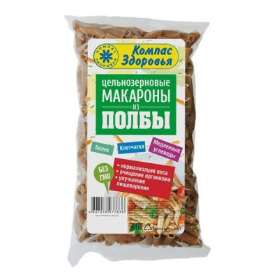 Макароны из ПОЛБЫ 350 г «Компас здоровья»