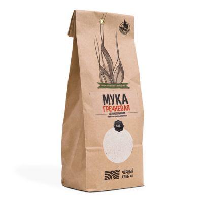 БИО-Мука Гречневая цельнозерновая 500 гр «Чёрный хлеб»
