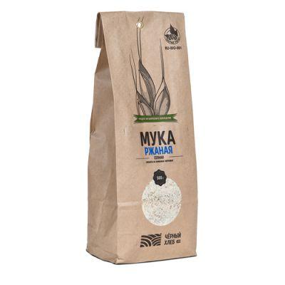 БИО-Мука Ржаная сеяная 500 гр «Чёрный хлеб»