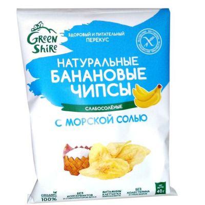 Банановые Чипсы с Морской солью 40г «ГринШир Групп»