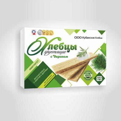 Хлебцы хрустящие с Укропом 100гр «Кубанские хлебцы»