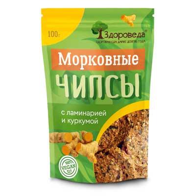 Морковные Чипсы (Ламинария+Куркума) 100г «Здороведа»