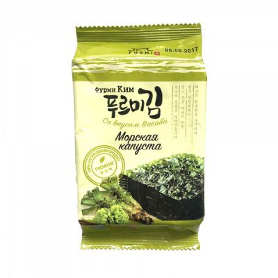 Морская капуста (Фурми Ким) со вкусом Васаби 5 гр «Ланикс М»