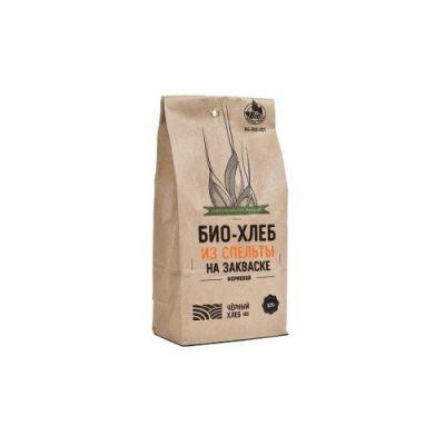 Набор для выпечки: БИО-Хлеб из Спельты на закваске формовой 525 гр «Чёрный хлеб»