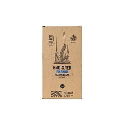 Набор для выпечки: БИО-Хлеб Ржаной на закваске формовой 525 гр «Чёрный хлеб»