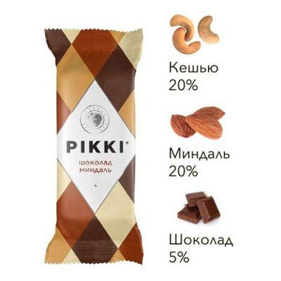 Орехово-Фруктовый Батончик (Шоколад+Миндаль) 35г «PIKKI»