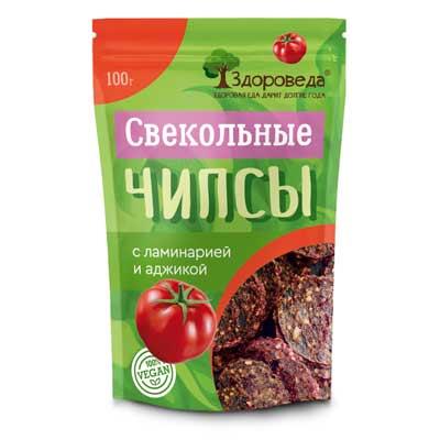 Свекольные Чипсы (Ламинария+Аджика) 100г «Здороведа»