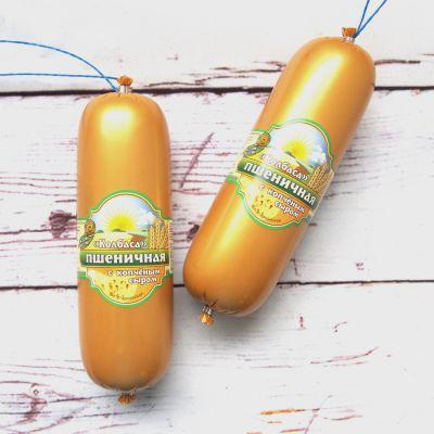 Колбаса Пшеничная Копчёная с сыром 400 гр «Bio»