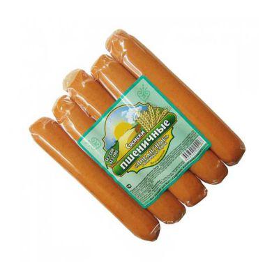 Сосиски Пшеничные пикантные (копчёный сыр) 300 гр «Высший вкус»