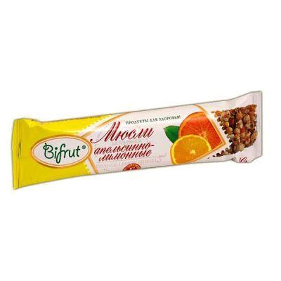 Батончик-мюсли Апельсиново-Лимонный 30 гр «BIFRUT» на фруктозе
