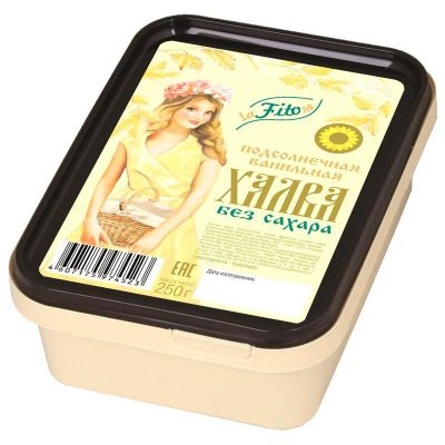 ХАЛВА ПОДСОЛНЕЧНАЯ Ванильная на фруктозе 250 гр «LaFiTOre»