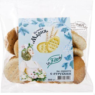 Печенье Мария с ОТРУБЯМИ на сорбите 180 гр на сорбите «LaFiTOre»