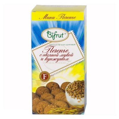 Печенье Овсяное с Кунжутом 270 гр «BIFRUT» на фруктозе