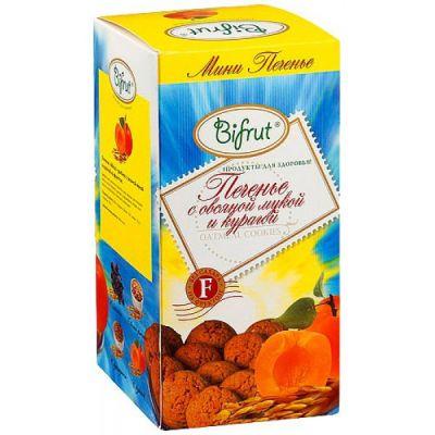 Печенье Овсяное с Курагой 270 гр «BIFRUT» на фруктозе
