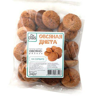 Печенье на СОРБИТЕ (Овсяная диета) 340 гр «Dr.DiaS»