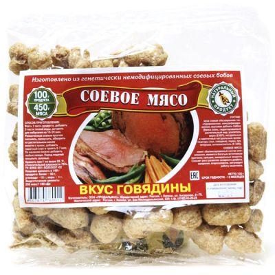 Соевое мясо, вкус ГОВЯДИНЫ 100 гр ТМ «Продальянс»