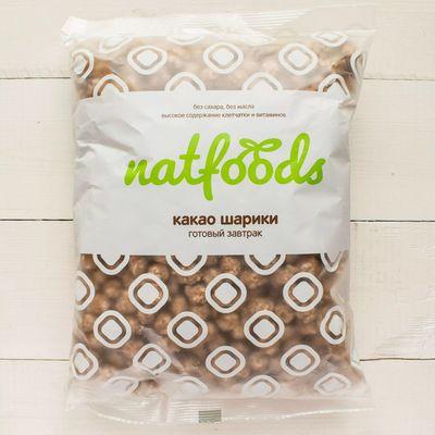 Сладкие шарики с КАКАО (без сахара) 100 гр ТМ «NatFoods»