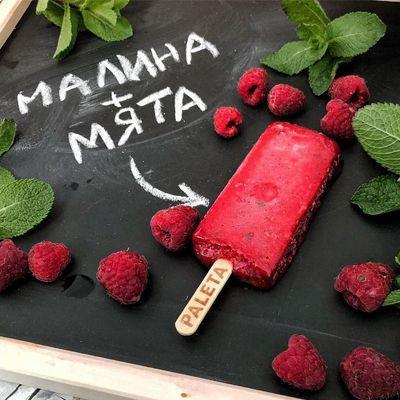 «PALETA» Мороженое-смузи Малина + садовая мята
