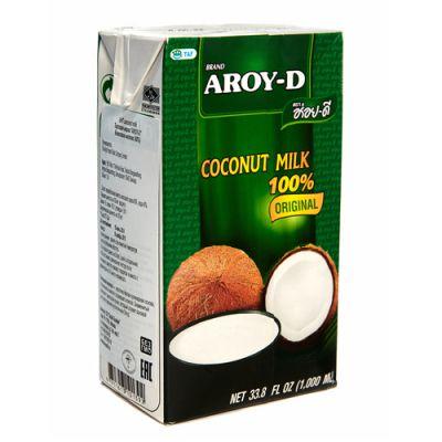 Кокосовое молоко (без сахара) 1 литр «Aroy-D»