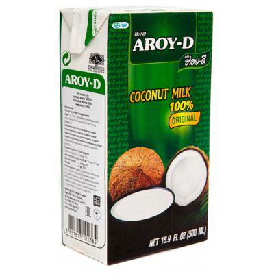 Кокосовое молоко (без сахара) 500 мл «Aroy-D»